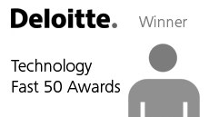 Badge for winning Deloitte Technology Fast 50 Awards