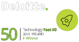 Badge for winning Deloitte Technology Fast 50 Awards - 2016 Ireland